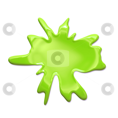 Paint Splatter green stock photo, Paint Splatter Blob Isolated on White Background by Kheng Ho Toh