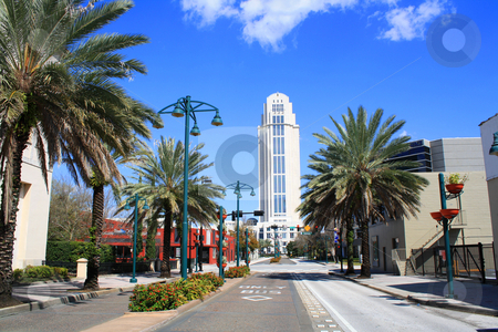 The Courthouse in Downtown Orlando, Florida stock photo, A side view of the courthouse in downtown Orlando, Florida, looking north on Magnolia Avenue by Carl Stewart