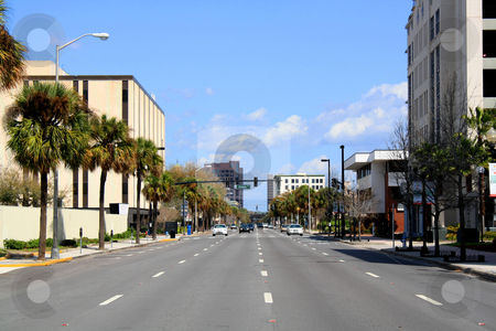 Downtown Orlando, Florida stock photo, A view of downtown Orlando, Florida, USA, looking north on Orange Avenue. by Carl Stewart