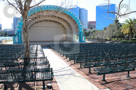 The Bandshell, Downtown Orlando, Florida stock photo, The bandshell at Lake Eola in downtown Orlando, Florida. by Carl Stewart