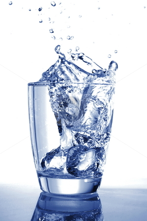 Water drink stock photo, Cool water drink isolated on white background by Gunnar Pippel
