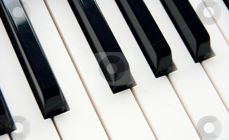 Piano stock photo, Detail of the keyboard of a piano by P?