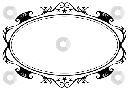 Antique oval frame stock vector