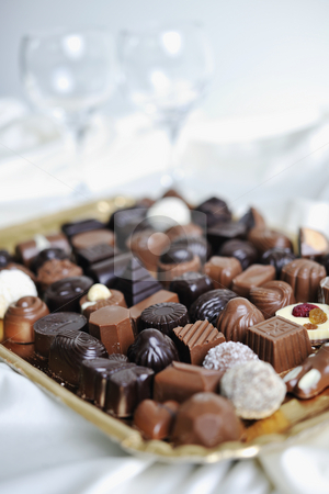 Chocolate and praline stock photo, Luxury and sweet praline and chocolate decoration by Benis Arapovic
