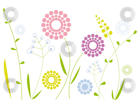 Simple floral design stock vector clipart, Modern floral background, vector by Beata Kraus