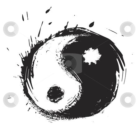 Artistic Yin Yang Symbol Stock Vector