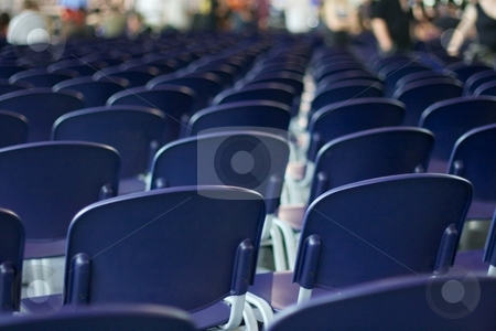 Chairs stock photo, Empty rows of chairs at an event by P?