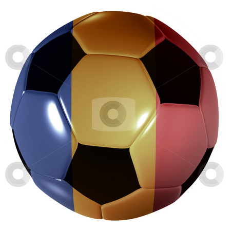 Football chad flag stock photo, Traditional black and white soccer ball or football chad flag by Michael Travers