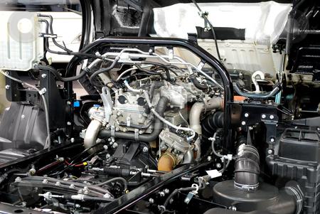 Truck engine stock photo, Truck engine by Goce Risteski