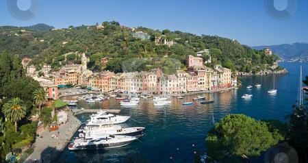 Portofino, Italy stock photo, Panorama of Portofino, famous small town in Mediterranean sea, Liguria, Italy by ANTONIO SCARPI