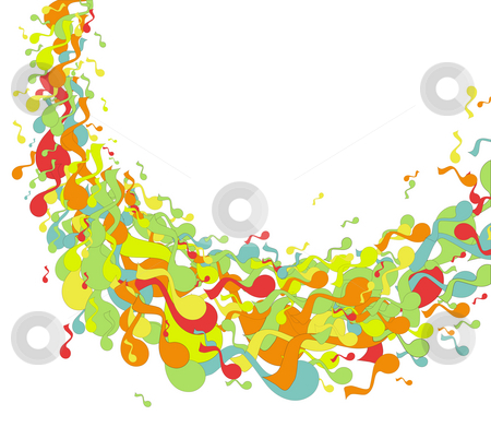 Music symbol stock photo, Drawing of beautiful music symbol in a white background by Su Li
