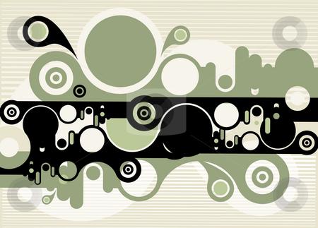 Abstract green circular background stock photo, An illustration drawing of beautiful circular background by Su Li