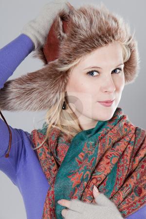 Woman at winter stock photo, Young adult woman wearing winter clothing by Ruta Balciunaite