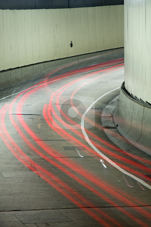 Tunnel stock photo, It is a shot in the car tunnel. by Keng po Leung