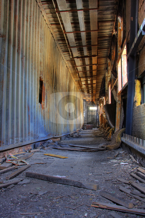 Discarded building stock photo, Discarded building, a peer after fire by Keng po Leung