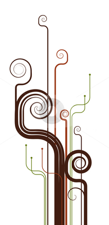 Spiry lines stock photo, Drawing of spiry lines in a white background by Su Li