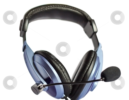 Headphones stock photo, Headphones on a white background by Sergey Gorodenskiy