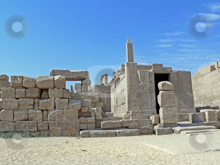 On the approach to ruins Karnak stock photo, On the approach to ruins of a powerful temple Karnak in Luxor by Vadim Tsyba