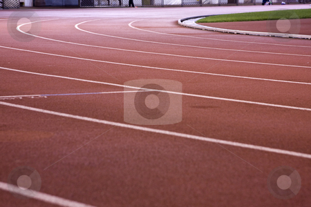 Running lanes stock photo, Running lanes on a track in play gorund by Keng po Leung