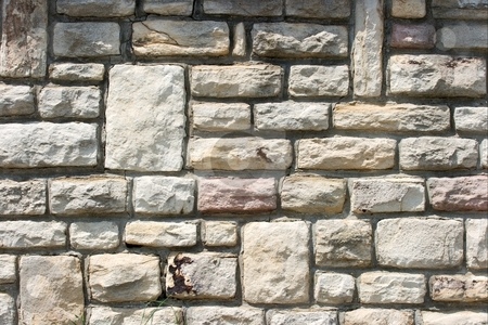 Wall stock photo, Texture of an old stone wall by P?