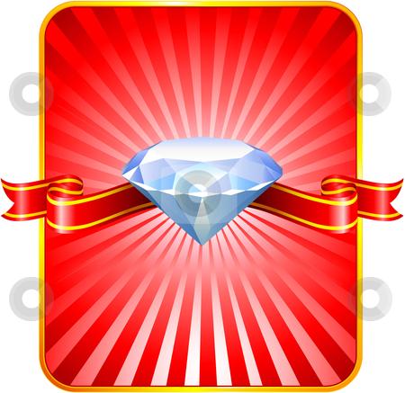 Diamond Valentine's Day design background stock vector clipart,  by L Belomlinsky