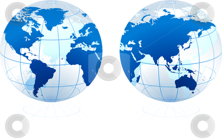 Translucent Glass Globe stock vector clipart,  by L Belomlinsky