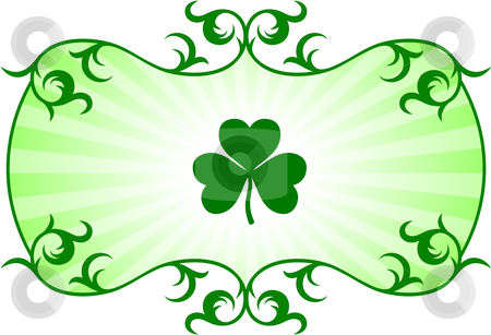 St. Patrick's Day green background stock vector clipart,  by L Belomlinsky