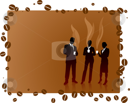 Business People on Coffee Break stock vector clipart, Business People on Coffee Break Original Vector Illustration by L Belomlinsky