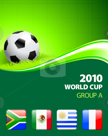 2010 World Cup Group A stock vector clipart, 2010 World Cup Group A Original Vector Illustration by L Belomlinsky