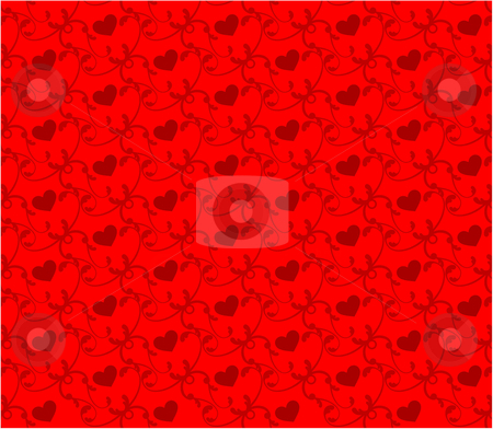 Heart pattern background stock vector clipart,  by L Belomlinsky