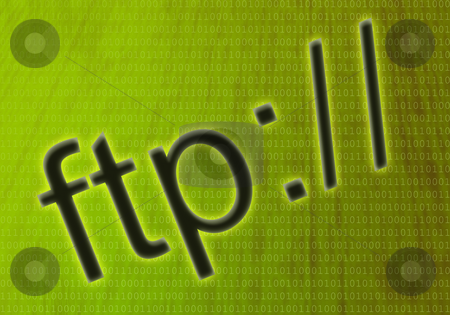 Ftp symbol stock photo, Glowing ftp symbol over a yellow-green background by Mihai Zaharia
