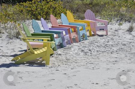 Adirondack Chairs On Beach