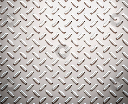 Alloy diamond plate metal stock vector clipart, A large seamless sheet of alluminium or nickel diamond or tread plate by Phil Morley