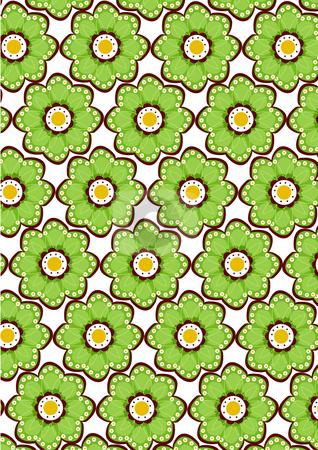 Seamless green flower pattern stock photo, Seamless  damask wallpaper pattern. green flower by Su Li