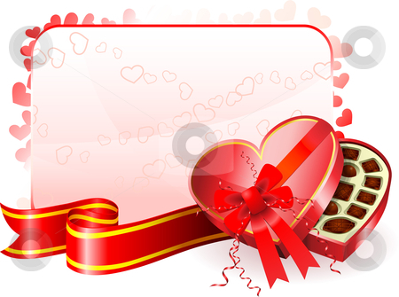 Dark Chocolate box Valentine's Day design background stock vector