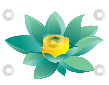 Blue lotus stock photo, Blue lotus isolate on the white background by Su Li