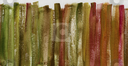 Grunge multicolor painted canvas texture stock photo, Red, green and brown grunge watercolor abstract on white artist canvas with a coarse texture, vertical brush strokes, self made by photographer by Marek Uliasz