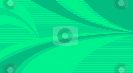 Green stripe background and curves stock photo, Drawing of green stripe background and curves by Su Li