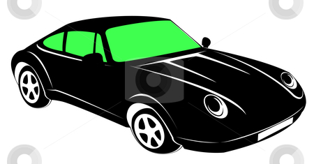 Car stock photo, Drawing of beautiful car in a white background by Su Li