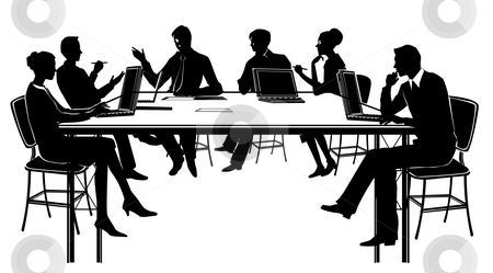 Meeting stock photo, Top view of a business people in a meeting by Su Li