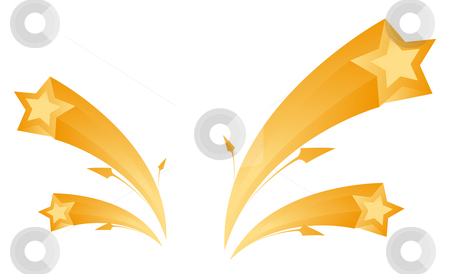 Star and arrow stock photo, Illustration drawing of beautiful star and arrow by Su Li
