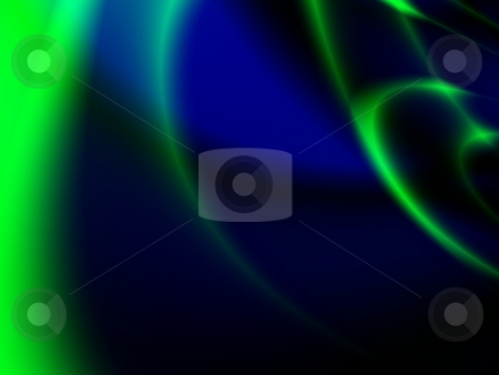 Fractal stock photo, Blue green and black abstract fractal background by P?