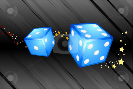 Blue Dice Background stock vector clipart, Blue Dice Background Original Vector Illustration Dice Ideal for Game Concept by L Belomlinsky