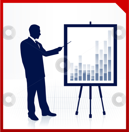 Businessman presentation stock vector clipart, Businessman presentation Original Vector Illustration Businessmen Concept by L Belomlinsky