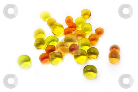 Colorful jelly balls stock photo, Close  up image of colorful jelly balls isolated on white background by Mile Atanasov