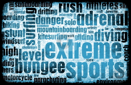 Extreme Sports stock photo, Extreme Sports Grunge Background as a Art by Kheng Ho Toh