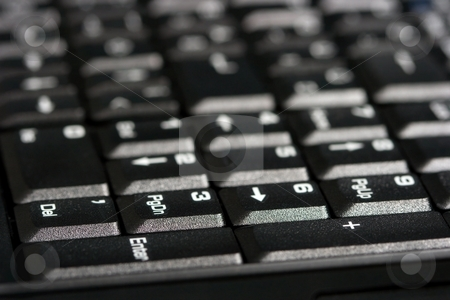 Keyboard stock photo, Keyboard detail on a laptop by P?