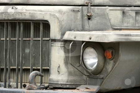 Truck stock photo, Detail of an old military truck by P?