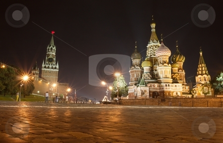 Moscow stock photo, St Basil cathedral, Red Square, Moscow by P?