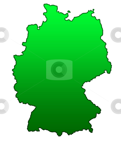 Map of Germany stock photo, Map of Germany isolated on white background. by Martin Crowdy